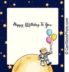生日快樂, 卡片, 空間