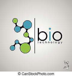 生物, 生物學, 概念, dna, 技術, 標識語, 設計, 標識語