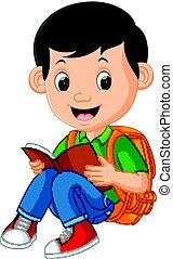 男孩, 孩子, 讀書