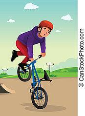 男孩, 自行車特技