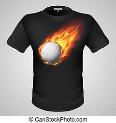 男性, print., t恤衫