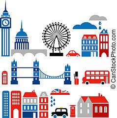 界標, 矢量, 倫敦, 插圖