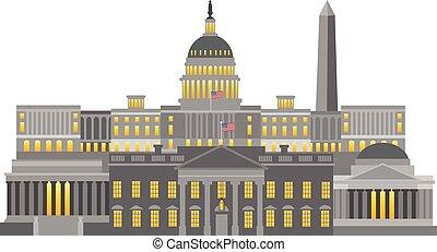 界標, 華盛頓特區, 插圖, 紀念碑
