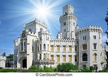 界標, hluboka, -, 城堡, 美麗