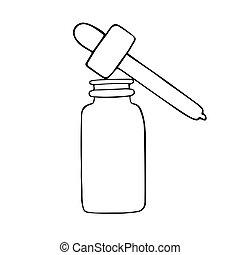 略述, 手, 畫, 油, 心不在焉地亂寫亂畫, 本質, 下跌, 矢量, 瓶子