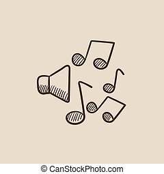 略述, 音樂 注意, icon., 擴音器