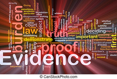 發光, 概念, 証据, 背景, 證明