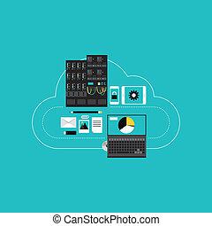 發展, 雲, hosting, 事務, 計算