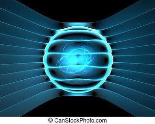 發電机, 能量, 概念, 摘要, 插圖