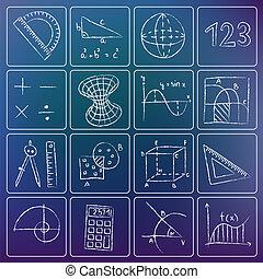 白堊, 數學, 圖象