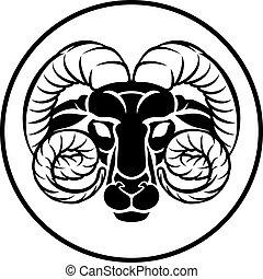 白羊星座, 黃道帶, ram, 簽署, 占星術