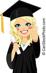 白膚金髮, 女孩, 畢業