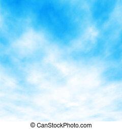 白色的云霧