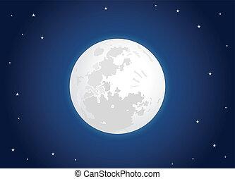 白色的月亮