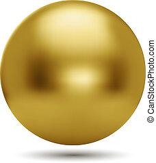 白色的球, 背景, 被隔离, 金