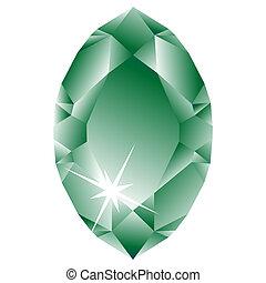 白色, 鑽石, 綠色, 針對