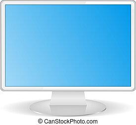 白色, 電腦監視器