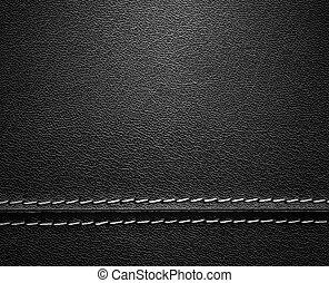 皮革, 黑色, 縫線, 結構