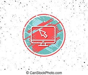 監控, 徵候。, 游標, 電腦, icon., 老鼠, 或者
