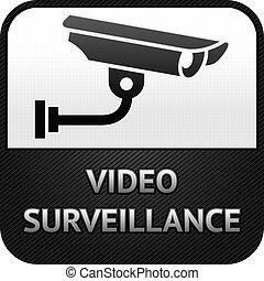 監視, cctv, 簽署, 照像機, 影像, 安全, 符號