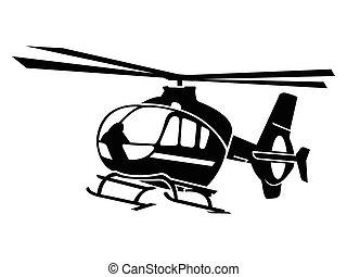 直升飛机, 符號