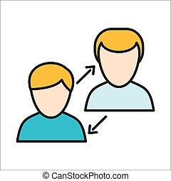 相互作用, 人類, 圖象