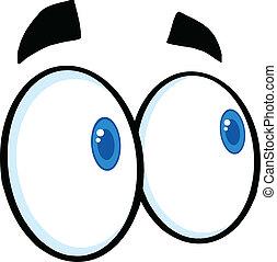 看, 眼睛, 卡通