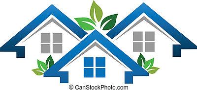 真正, 房子, 公司, 財產, 標識語