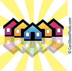 真正, 房子, 公寓租房, 財產, 標識語