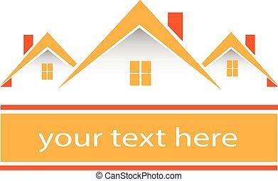 真正, 房子, 標識語, 財產