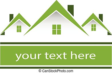 真正, 房子, 綠色, 財產, 標識語