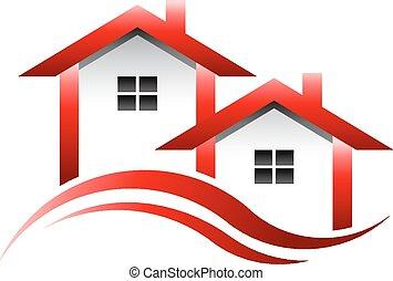 真正, 房子, 財產, 標識語