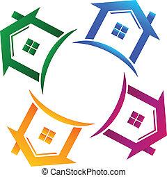 真正, 房子, 4, 財產, 標識語