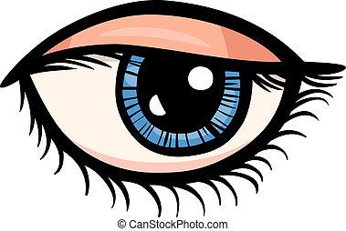 眼睛, 剪花藝術品, 卡通, 插圖