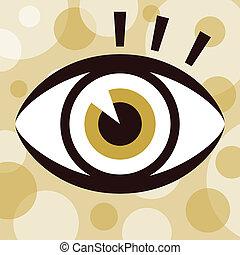 眼睛, design., 引人注目