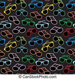眼鏡, 附件, seamless, 太陽