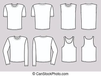 矢量, 人, 衣服, illustration., 衣服