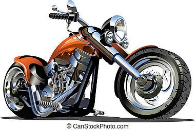 矢量, 卡通, 摩托車