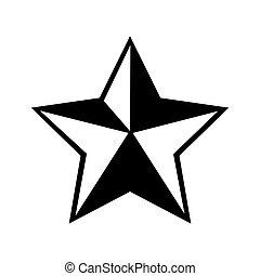 矢量, 圖標牛仔, 星, 郡長, 圖表