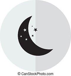 矢量, 圖象, 月亮