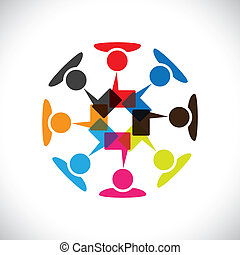 矢量, 媒介, 概念, &, 通訊, 相互作用, 社會, graphic-