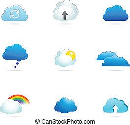 矢量, 彙整, 雲, 圖象