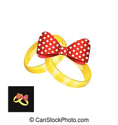矢量, 戒指, 金, 婚禮