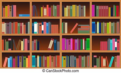 矢量, 插圖, 書櫥