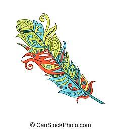 矢量, 插圖, 羽毛