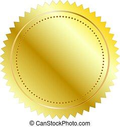 矢量, 插圖, 金色的海豹
