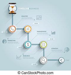 矢量, 是, 使用, illustration., 圖形, 工作流程, 活動時間表, 選擇, 數字, 布局, infographic, 网, 旗幟, design., template., 罐頭