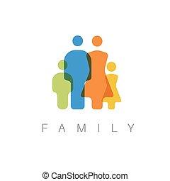矢量, 概念, 家庭, 插圖
