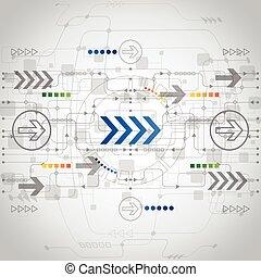 矢量, 概念, 摘要, 背景, 未來, 技術