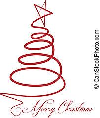 矢量, 樹, 聖誕節